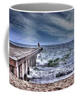 Pier On The Beach  Coffee Mug by Elaine Manley