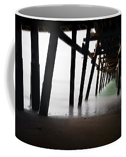Coffee Mug featuring the photograph Pier Pressure by Sean Foster
