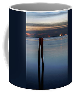 Coffee Mug featuring the photograph Pier Pylon At Chamberlin by Jerry Gammon