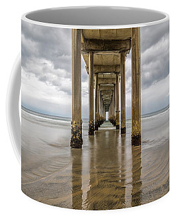 Coffee Mug featuring the photograph Pier Review by Dustin  LeFevre
