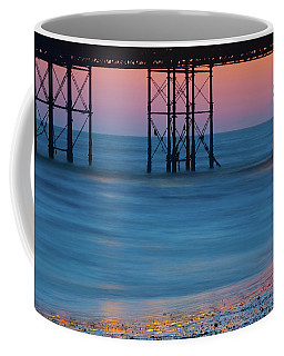Pier Supports At Sunset I Coffee Mug