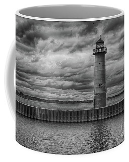 Pierhead Lighthouse In Monochrome Coffee Mug