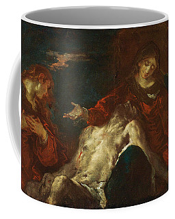 Coffee Mug featuring the painting Pieta With Mary Magdalene by Giuseppe Bazzani