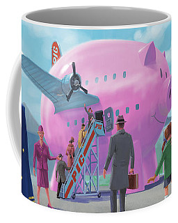 Pig Airline Airport Coffee Mug