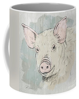 Pig Portrait-farm Animals Coffee Mug