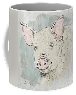 Pig Portrait-farm Animals Coffee Mug