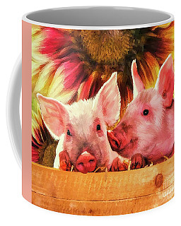 Piglet Playmates Coffee Mug by Tina LeCour