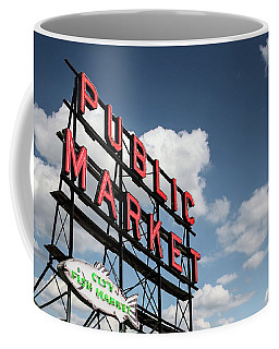 Coffee Mug featuring the photograph Pike Place Market by Ed Clark