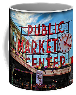 Pike Place Market Coffee Mug by Joan  Minchak