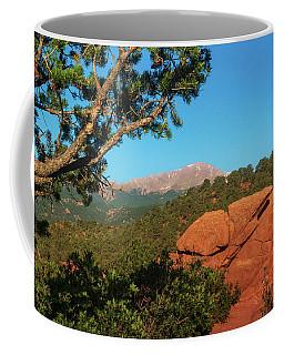 Coffee Mug featuring the photograph Pikes Peak by John De Bord