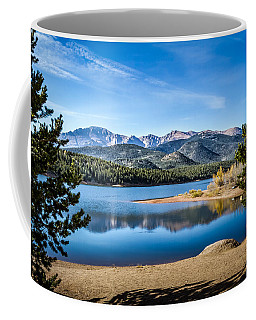 Pikes Peak Over Crystal Lake Coffee Mug