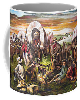 American    History  Pilgrims On The Plain Coffee Mug