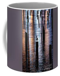 Pilings At Night Coffee Mug
