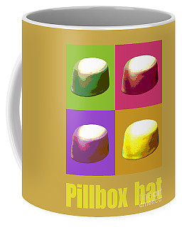 Coffee Mug featuring the digital art Pillbox Hat by Jean luc Comperat