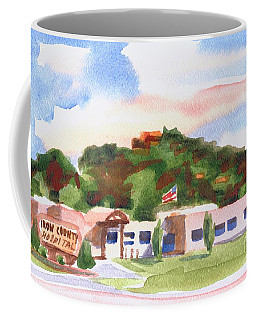 Coffee Mug featuring the painting Pilot Knob Mountain W401  by Kip DeVore