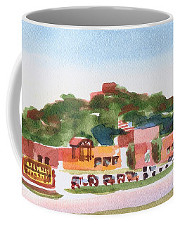 Coffee Mug featuring the painting Pilot Knob Mountain W402 by Kip DeVore