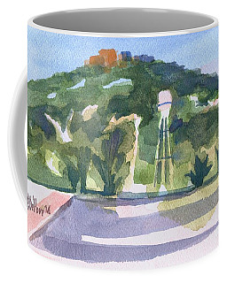 Coffee Mug featuring the painting Pilot Knob Mountain W404 by Kip DeVore