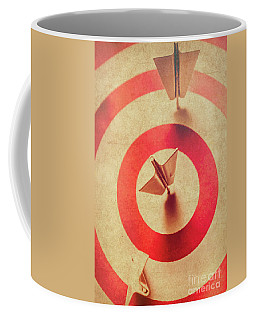 Pin Plane Darts Hitting Goals Coffee Mug