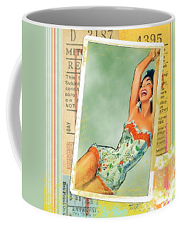 Pin Up Girl Square Coffee Mug