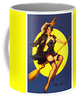 Pin Up Sexy Witch Coffee Mug