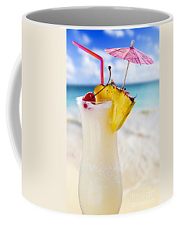 Pina Colada Cocktail On The Beach Coffee Mug