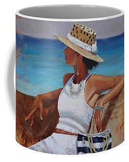 Coffee Mug featuring the painting Pina Colada Please by Laura Lee Zanghetti