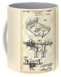 Pinball Machine Patent 1939 - Vintage Coffee Mug by Stephen Younts