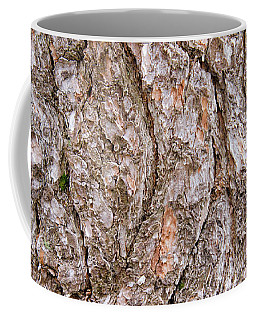Coffee Mug featuring the photograph Pine Bark Abstract by Christina Rollo