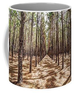 Pine Plantation Wide Color Coffee Mug