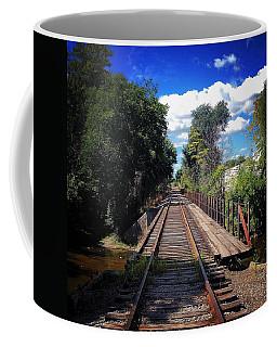 Pine River Railroad Bridge Coffee Mug