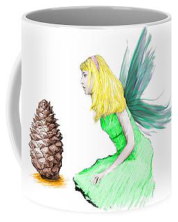 Pine Tree Fairy And Pine Cone Coffee Mug