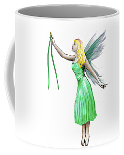 Pine Tree Fairy Holding Pine Needles Coffee Mug