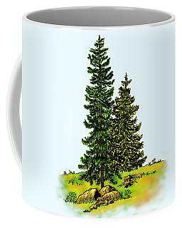 Pine Tree Nature Watercolor Ink Image 2b        Coffee Mug