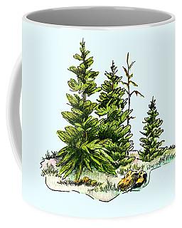 Pine Tree Watercolor Ink Image I         Coffee Mug