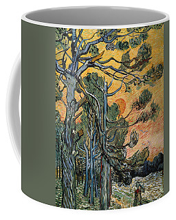 Pine Trees At Sunset Coffee Mug