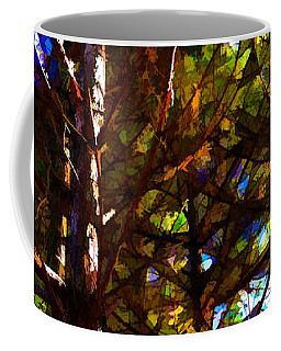 Pine Trees In Abstract 1 Coffee Mug