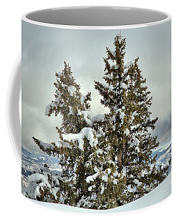 Pine Trees In The Clouds Coffee Mug