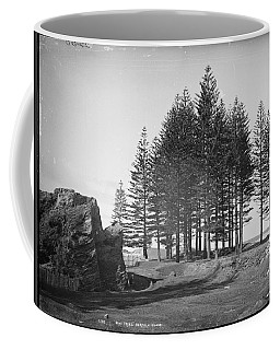 Coffee Mug featuring the painting Pine Trees, Norfolk Island, Kerry And Co, Sydney, Australia, C. 1884-1917 by Artistic Panda