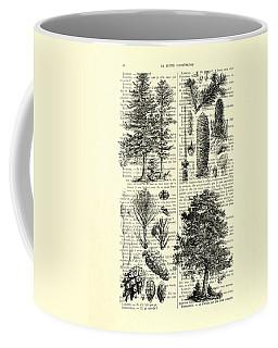 Pine Trees Study Black And White  Coffee Mug