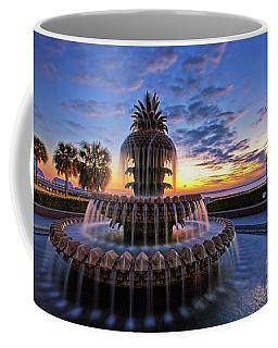 The Pineapple Fountain At Sunrise In Charleston, South Carolina, Usa Coffee Mug