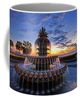 The Pineapple Fountain At Sunrise In Charleston, South Carolina, Usa Coffee Mug