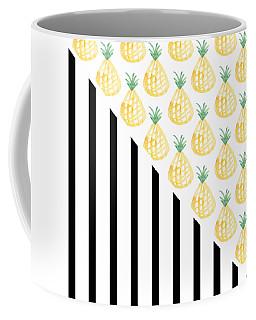 Pineapples And Stripes Coffee Mug