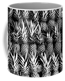 Pineapples In B/w Coffee Mug