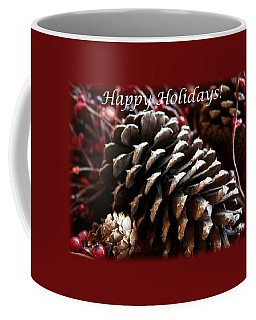 Pinecones And Berries Coffee Mug by Ellen O'Reilly