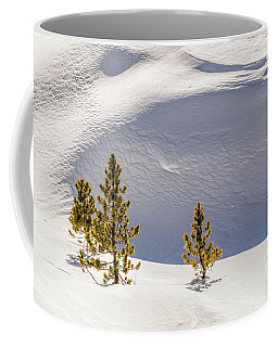 Pines In The Snow Drifts Coffee Mug