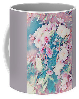 Pink And Blue Floral Fantasy Coffee Mug