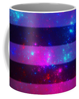 Pink And Blue Striped Galaxy Coffee Mug