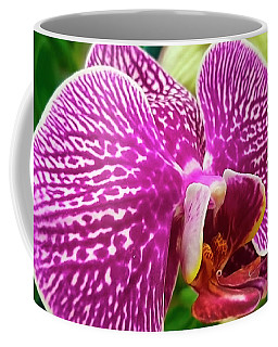 Pink And Green Orchid Floral Garden 957 Coffee Mug