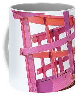 Pink And Orange Lifeguard Tower Coffee Mug