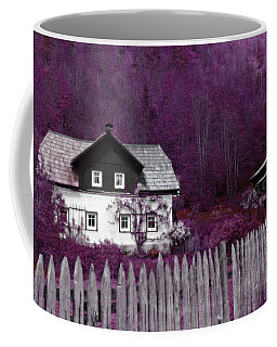 Coffee Mug featuring the photograph Pink And Purple Enchanted Cottage by Brooke T Ryan